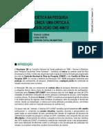 Cunha, Porto e Martins. Bioética na pesquisa - uma crítica à Resolução CNS 466
