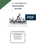 band handbook 2019-2020