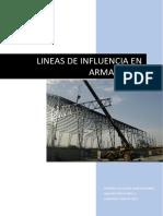 Lineas de Influencia Armaduras