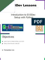 EV3Dev Intro