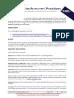 Higher Education Assessment Procedures