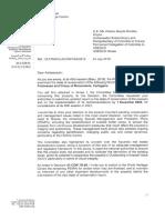 Comunicación de la UNESCO a Colombia