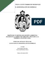 17 CUBAS 2018-Diseño de Un Sistema de Gestión Ambiental Basado en La Norma ISO 14001_2015 Aplicado a La Empresa Atlántica SRL