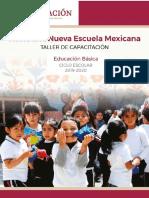 taller de capacitación hacia una nueva escuela mexicana