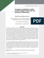 Estudio de plantas medicinales usadas en la comunidad indígena Tikuna del alto Amazonas, Macedonia.