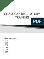 CLIA CAP Training