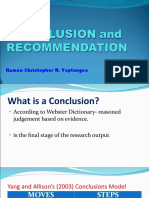 Thesis / conclusion writing