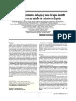 Medida de Contaminantes Del Agua y Usos Del Agua Durante El Embarazo en Un Estudio de Cohortes en España