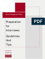 Preparation for Interviews_Guidelines and Tips