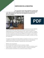 Limpieza y Desinfeccion en La Industria Alimentaria