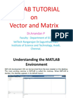 Matlab_Vector and Matrices