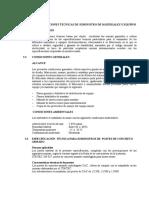 III Especificaciones Tecnicas de Suministro de Materiales y Equipos