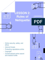 Lesson 2 - Rules of Netiquette