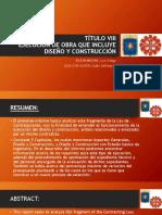 EJECUCIÓN DE OBRA QUE INCLUYE DISEÑO Y CONSTRUCCIÓN