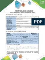 Guía de Actividades y Rubrica de Evaluación Fase 2- Ciclo Celular Disrupción Cromosomica Citogenertica Convencional