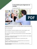 23 Habilidades Necessárias Para Ingressar No Mercado de Trabalho
