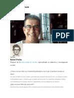 entrevista a Rafael Porlán