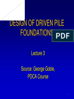 Design of Driven Pile Foundation