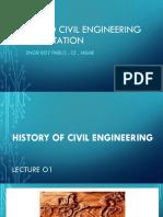 Civil Engineering Orientation Lecture 01