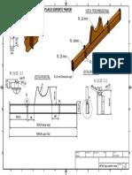 Plano Viga soporte mayor Herramienta extracción cilindro brazo HITACHI EX5600