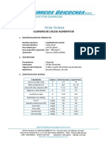 FT Cloruro de Calcio Alimenticio Tetra Chemicals