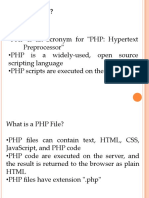3. PHP Intro