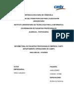 Informe de Pasantías - Juan Gómez