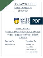 Harshit Rai Political Science