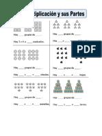 Ficha de Partes de La Multiplicacion Para Segundo de Primaria