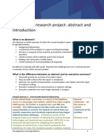 Engineering Research Project Abstract and Introduction 2016