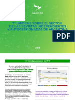 Séptimo informe de la Asociación de Revistas Culturales Independientes de Argentina (AReCiA)