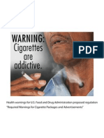 FDA Proposed Harshly Graphic Text and Image Warnings Tobacco
