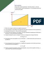 IB 11 Physics SUVAT Derivation