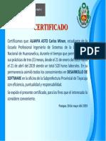 Certifica DE PRACTICAS