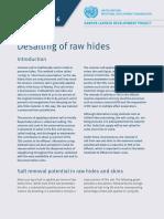 Factsheet 6 Desalting-raw Hides p