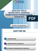 Program Kerja Setjen Kemenperin 2012