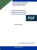 Guía de Trabajo Informe Final de Investigación