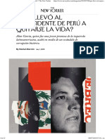 ¿Qué Llevó Al Expresidente de Perú a Quitarse La Vida the New Yorker