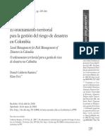El ordenamiento territorial para la gestión del riesgo de desastres en Colombia.pdf
