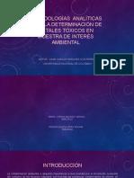 Metodologías Analíticas Para La Determinación de Metales Tóxicos SANEAMIENTO AMBIENTAL