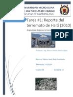 Reporte Del Sismo de Haití