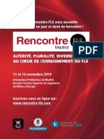 Rencontre Fle Madrid 2019 Brochure