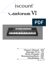 Cantorum VI Manual