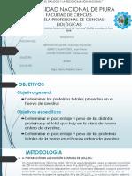 Determinación de Proteínas Totales en Huevo de Avestruz Struthio Camelus