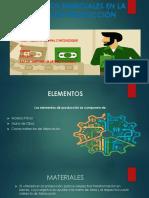 Elementos Esenciales en La Ordenes de Producción