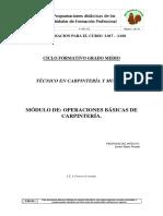 Operaciones Básicas de Carpintería