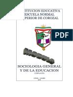MÓDULO SOCIOLOGÍA GENERAL Y DE LA EDUCACIÓN.