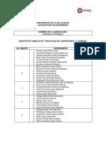 """Equipos de Trabajo Prácticas de Laboratorio y Tareas """"Anatomía y Fisiología I"""""""