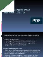 Pengorganisasian Dalam Manajemen Logistik