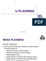 7. Menu Planning